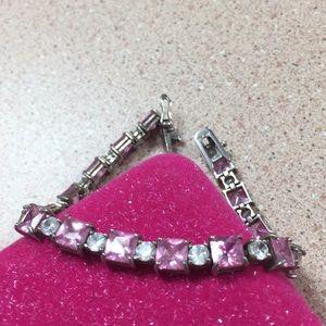 Jewelry - Sterling Silver pink ice bracelet